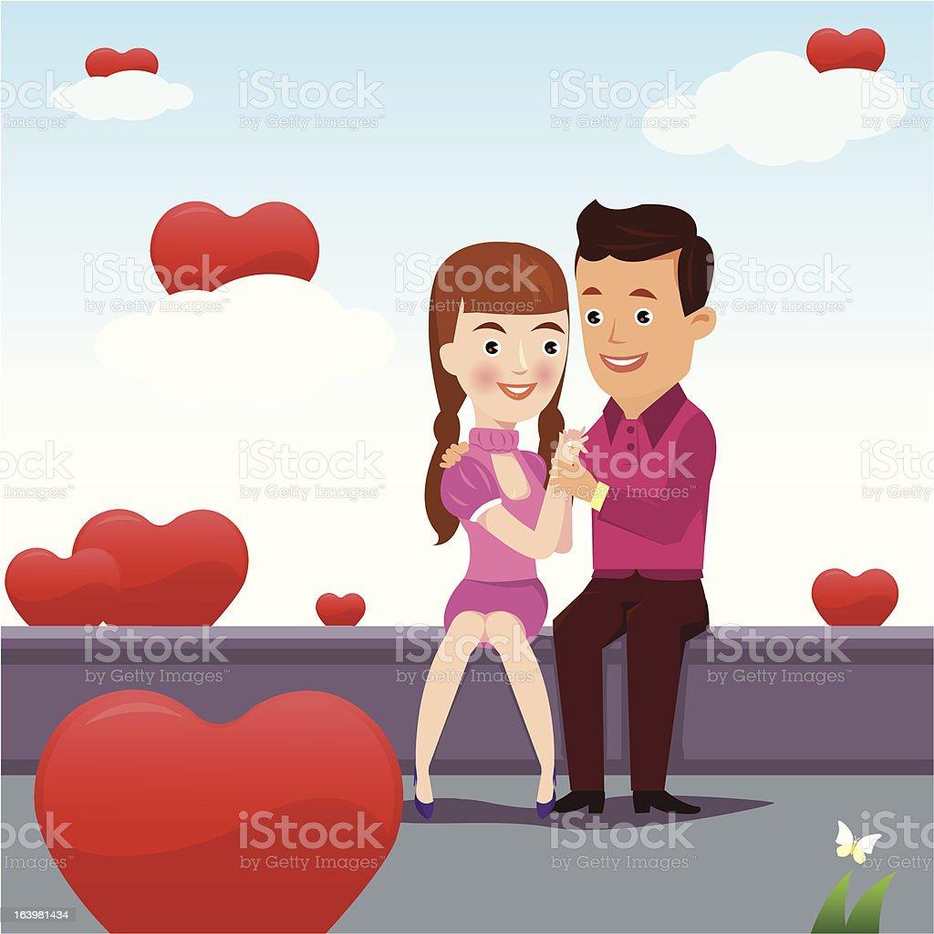 Couple's love. royalty-free stock vector art