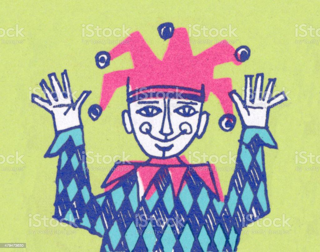 Court Jester vector art illustration