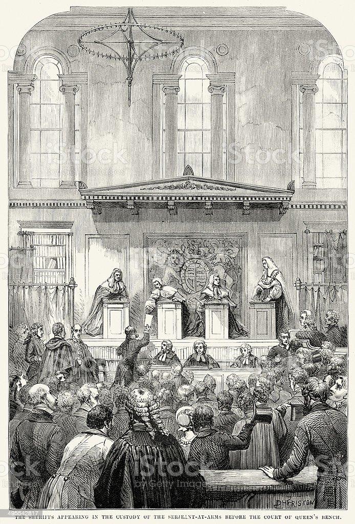 Court of the Queen's Bench vector art illustration
