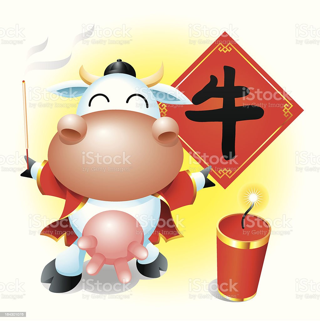 Cow celebration vector art illustration