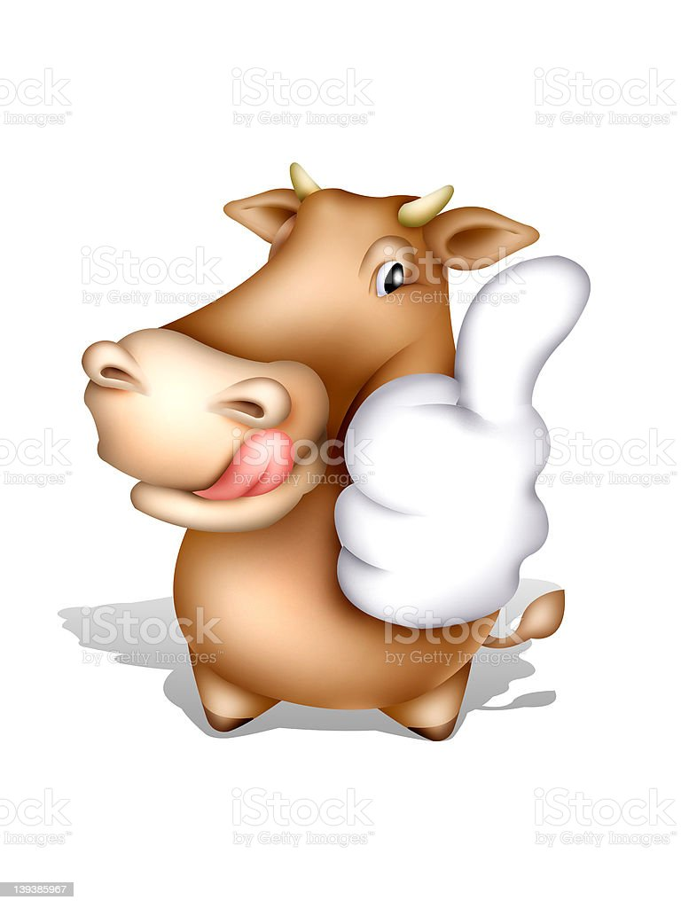 Cow character vector art illustration