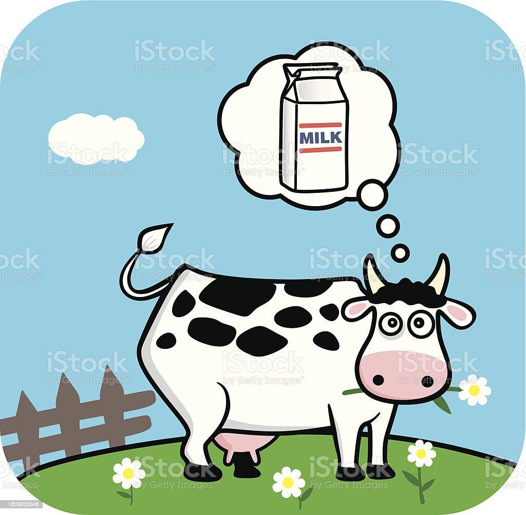 cow vector art illustration