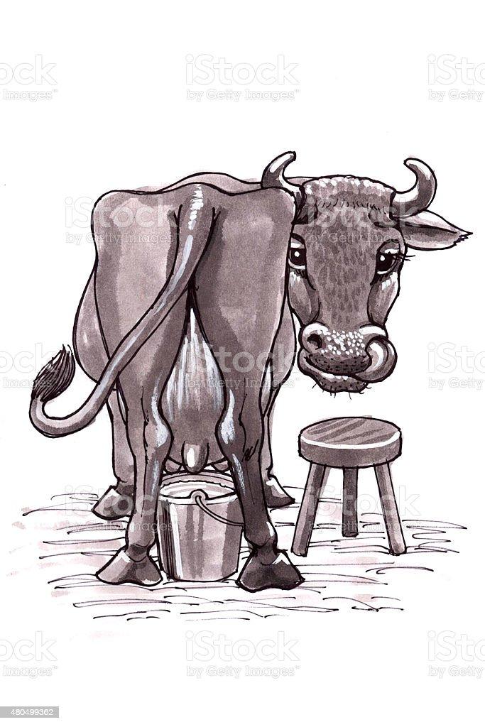 Cow (Comic Lizenzfreies vektor illustration