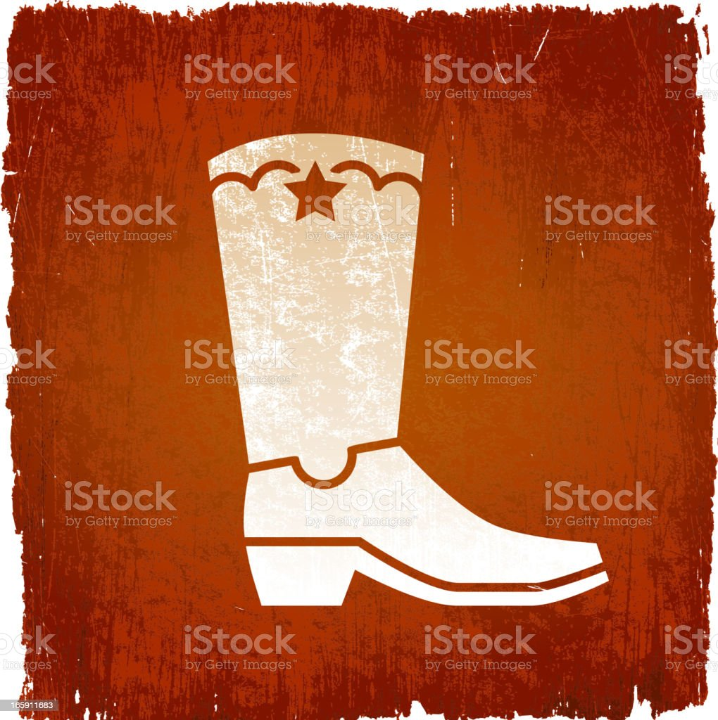 Cowboy boot on royalty free vector Background royalty-free stock vector art