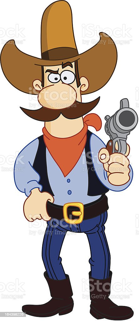 Cowboy cartoon royalty-free stock vector art