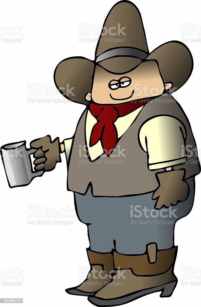 Cowboy Coffee royalty-free stock vector art