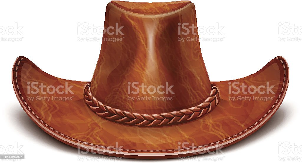 cowboy's leather hat stetson royalty-free stock vector art