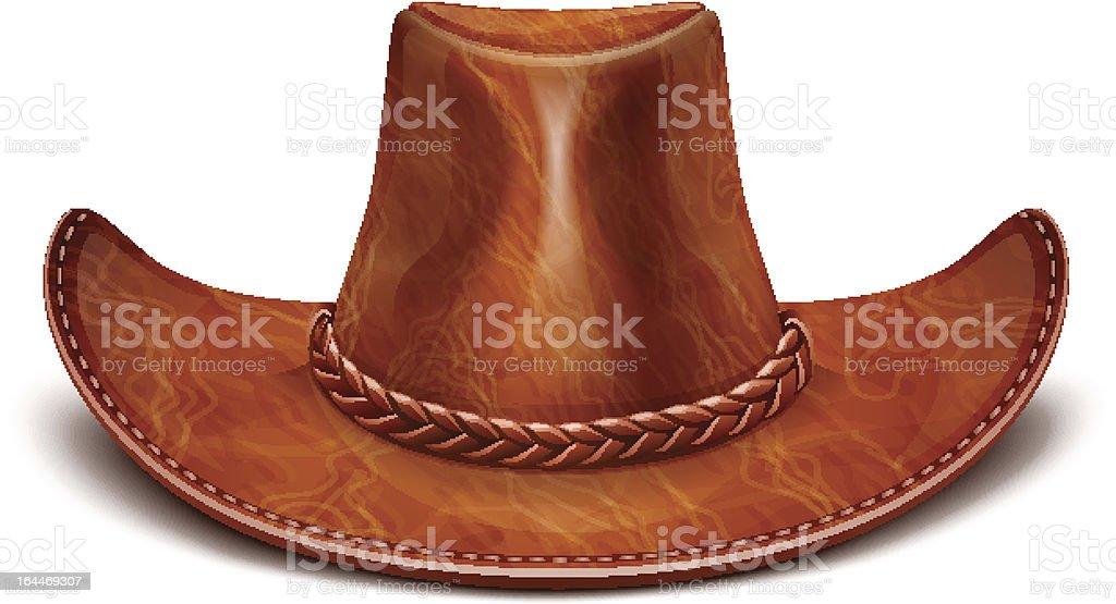 cowboy's leather hat stetson vector art illustration