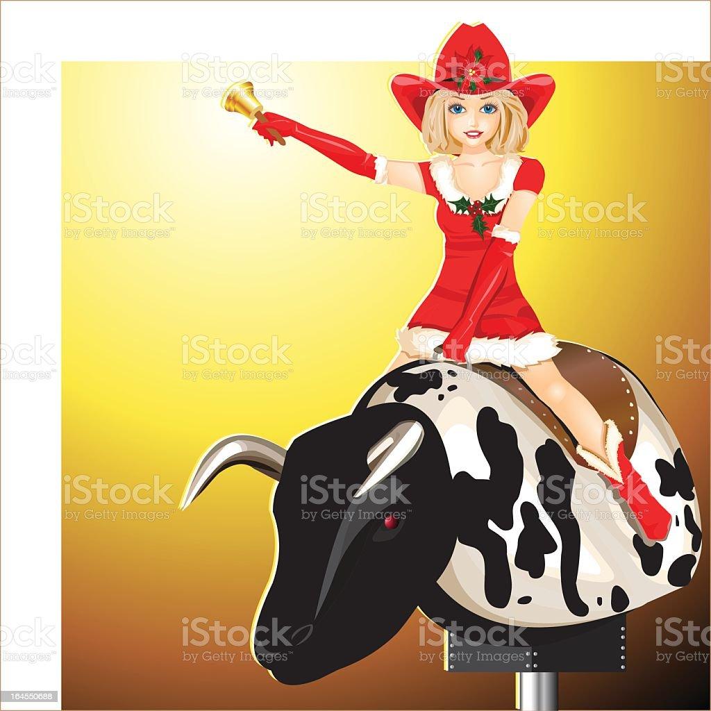 Cowgirl vector art illustration