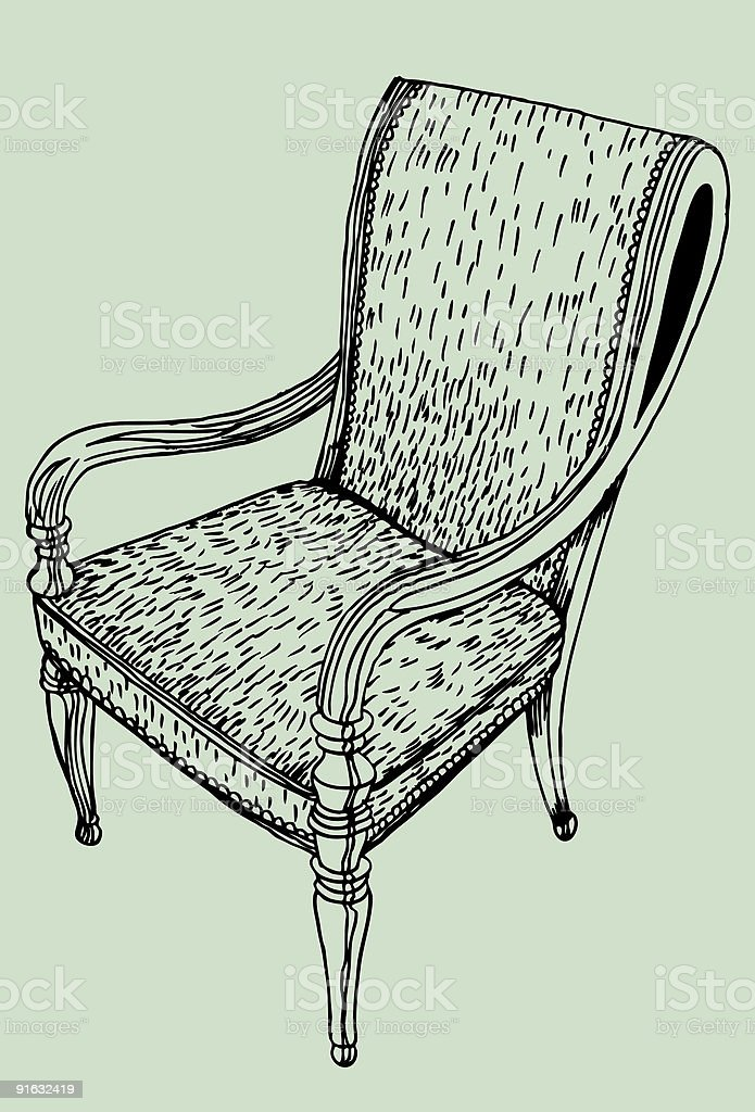 Cowhide Chair royalty-free stock vector art