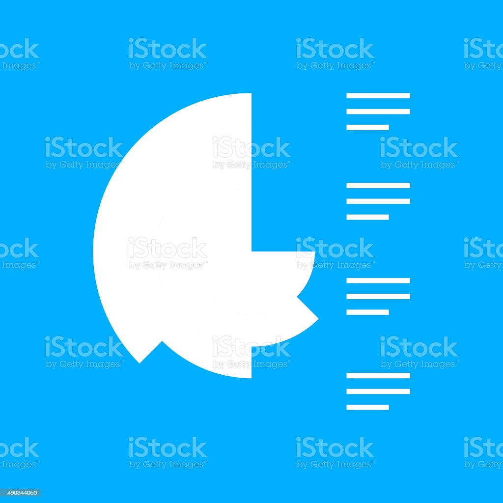 Coxcomb Chart icon on a blue background. - SmoothSeries vector art illustration