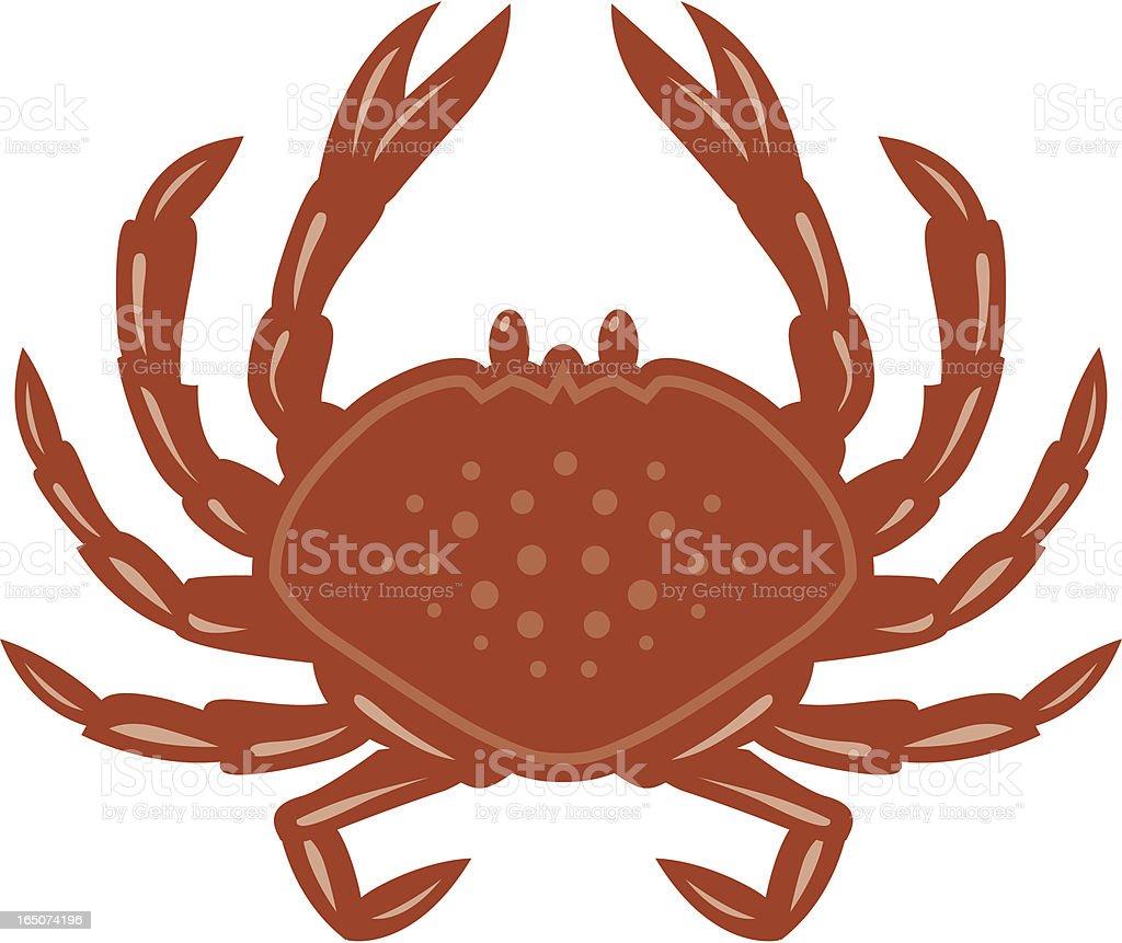 Crab royalty-free stock vector art