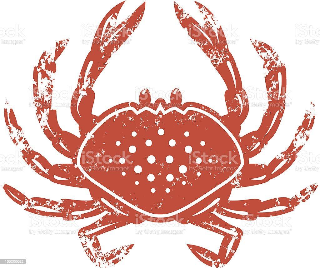 Crab stencil vector art illustration