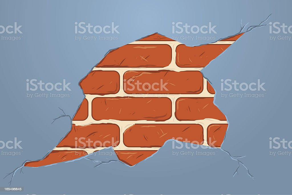 crack in the wall royalty-free stock vector art