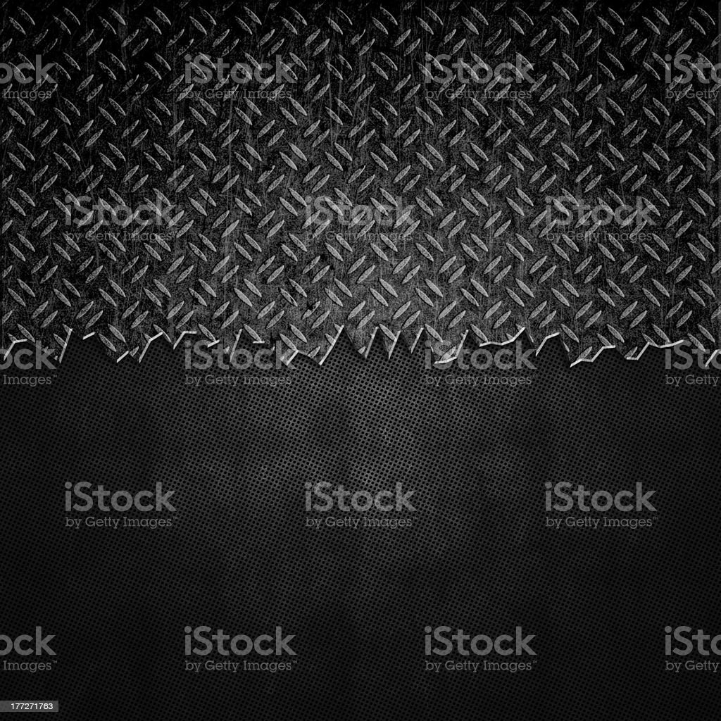 Cracked black metal background royalty-free stock vector art