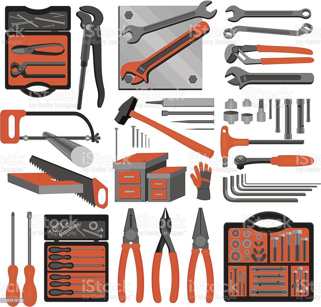 Craft icons – Hand tools (Set 3) royalty-free stock vector art