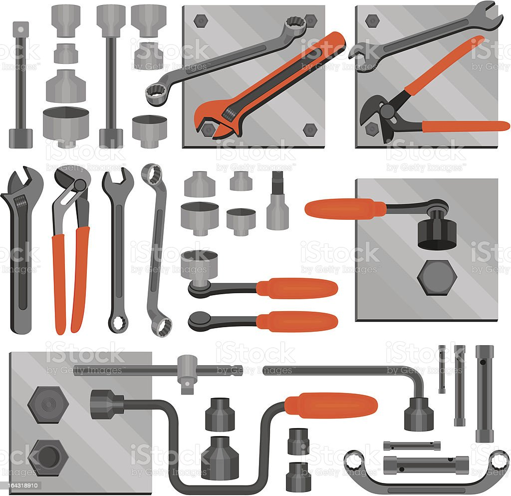 Craft icons – Hand tools (Set 6) royalty-free stock vector art