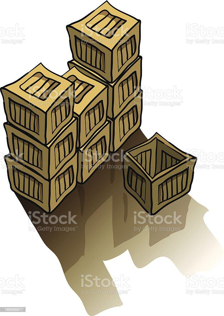 Crates royalty-free stock vector art