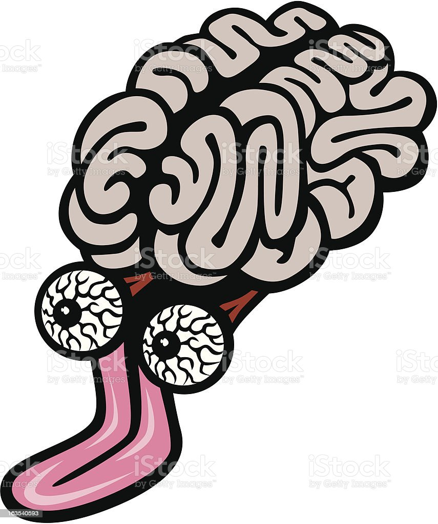 Crazy Brain royalty-free stock vector art