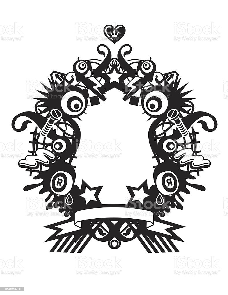 Crazy Frame royalty-free stock vector art