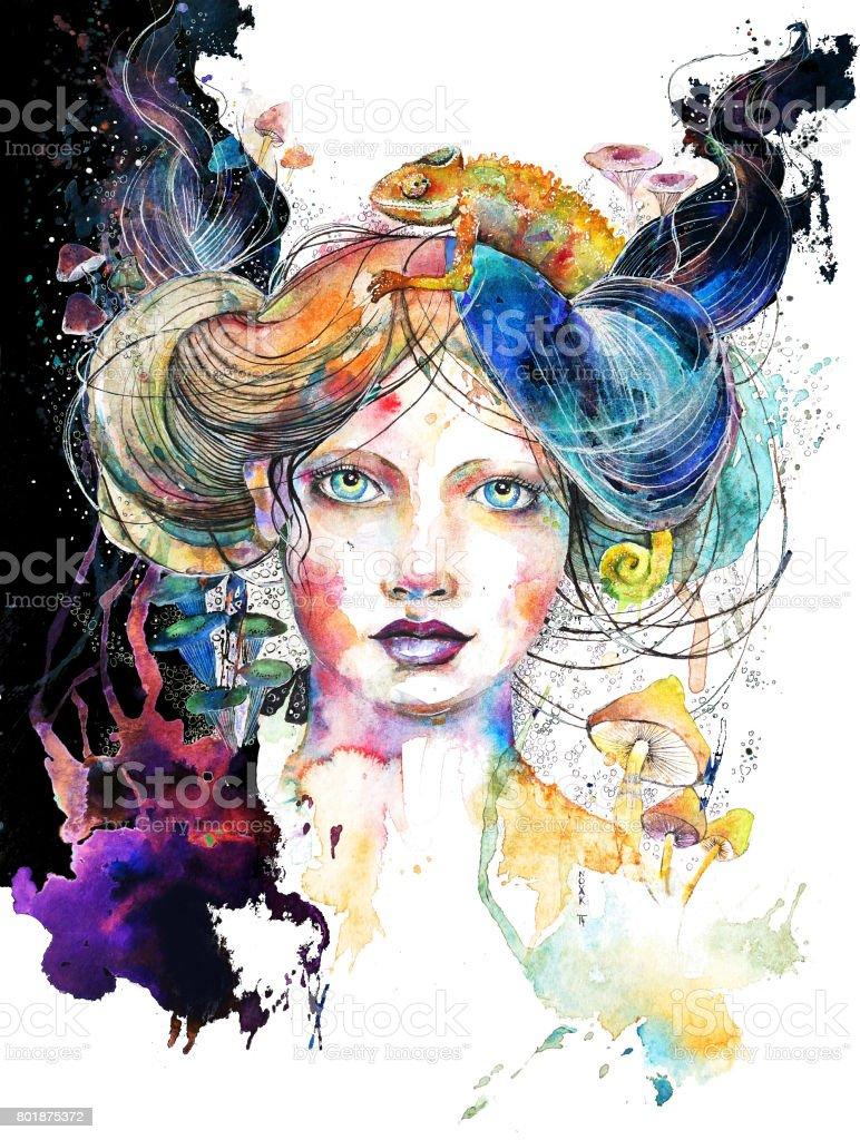 Crazy Mushrooms vector art illustration