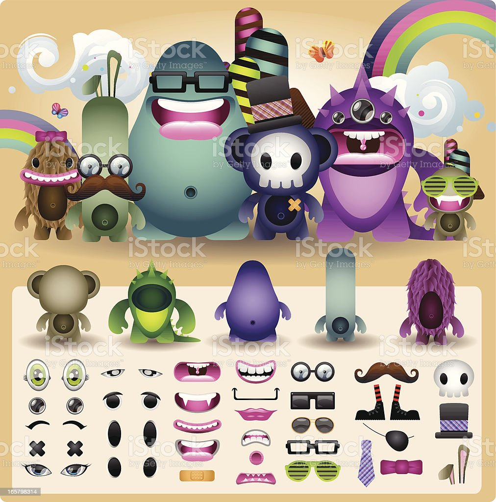 Create a Creature royalty-free stock vector art