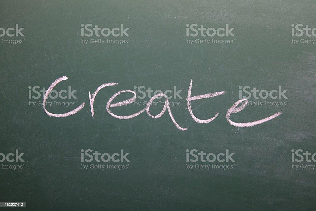 Create written on a chalkboard vector art illustration