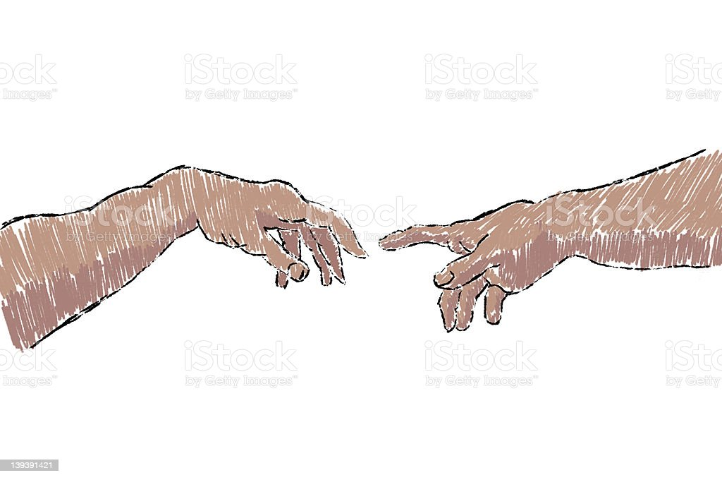 Creation of Adam (REQUESTED) royalty-free stock vector art