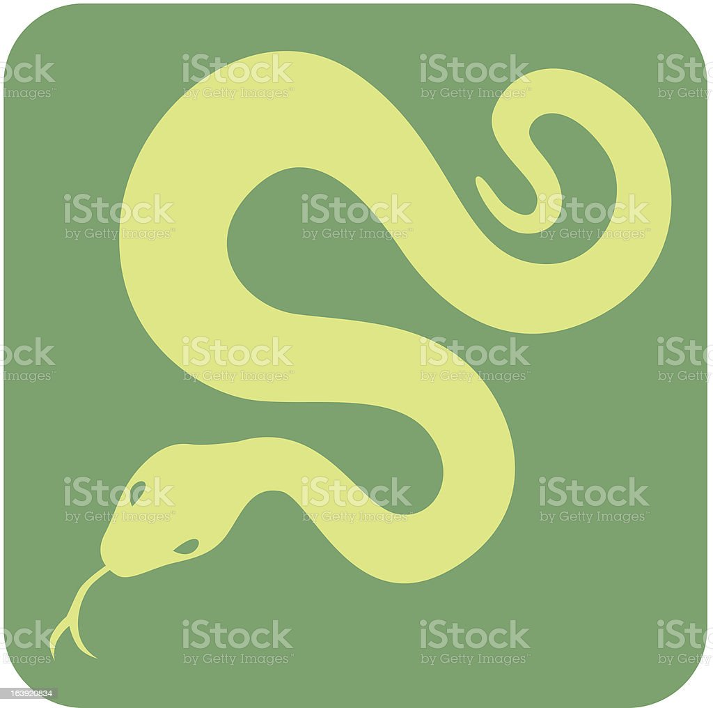 Creative Anaconda Icon vector art illustration