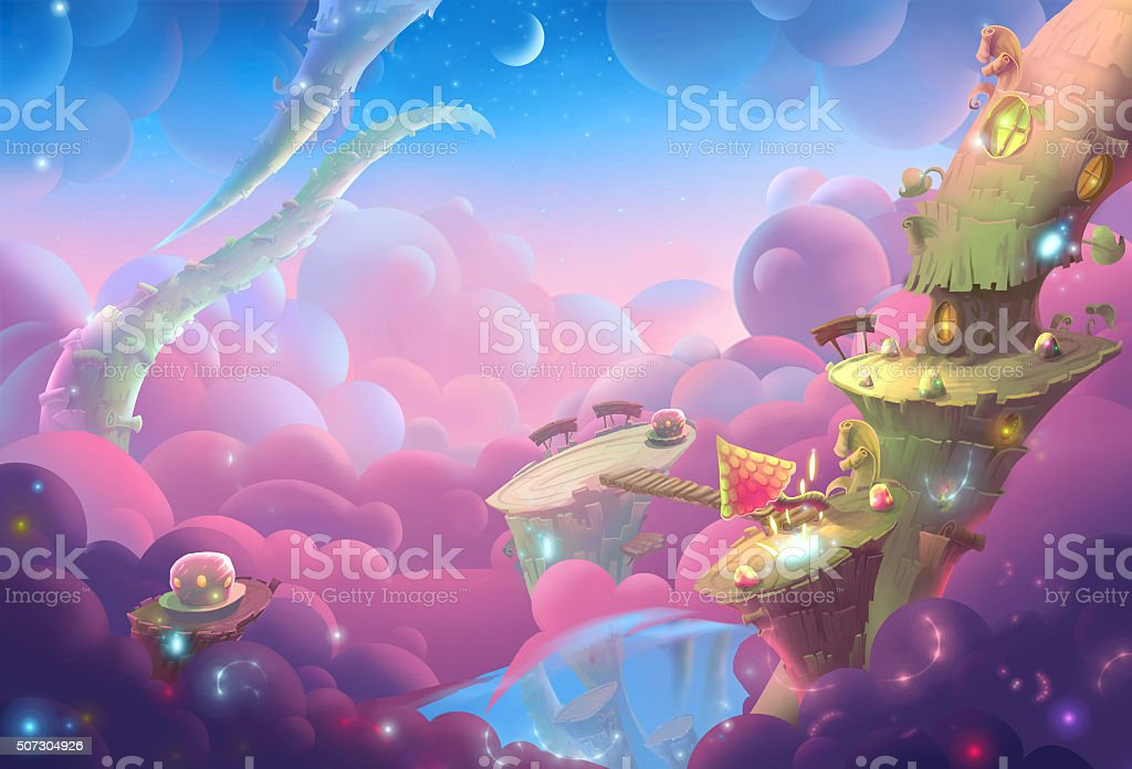 Creative Illustration and Innovative Art: A Fantastic WonderLand vector art illustration
