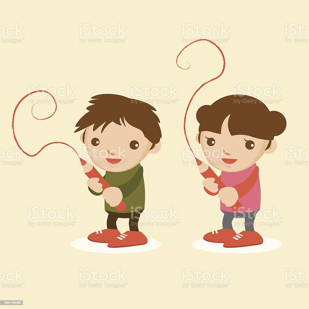 creative kids vector art illustration