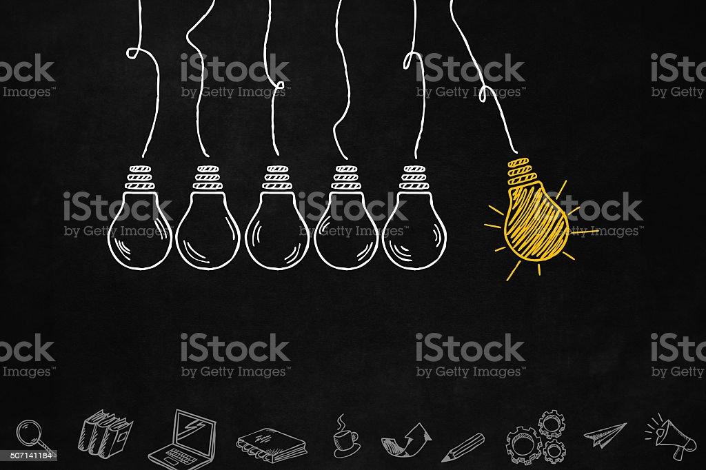 Creativity Light Bulb concept vector art illustration