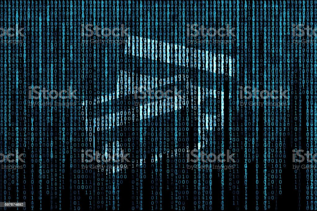 Credit card matrix background vector art illustration