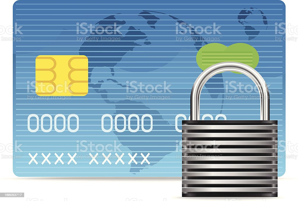Credit card Security royalty-free stock vector art