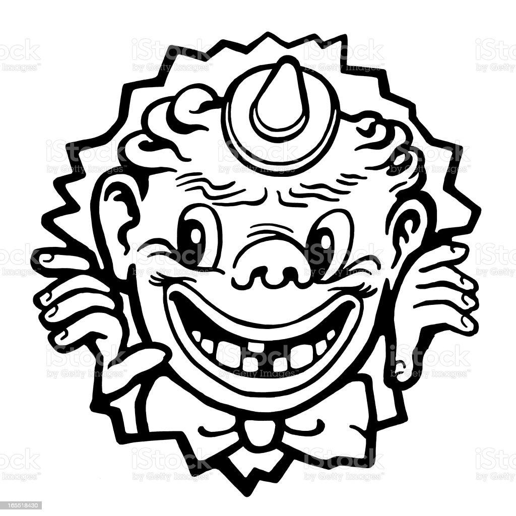 Creepy Animal Clown royalty-free stock vector art