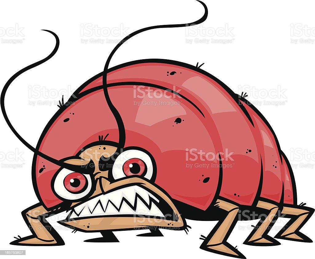 creepy bug vector art illustration