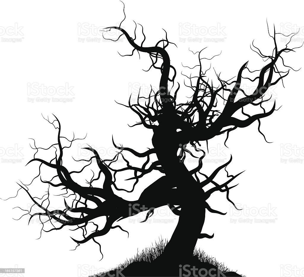 Creepy Tree vector art illustration