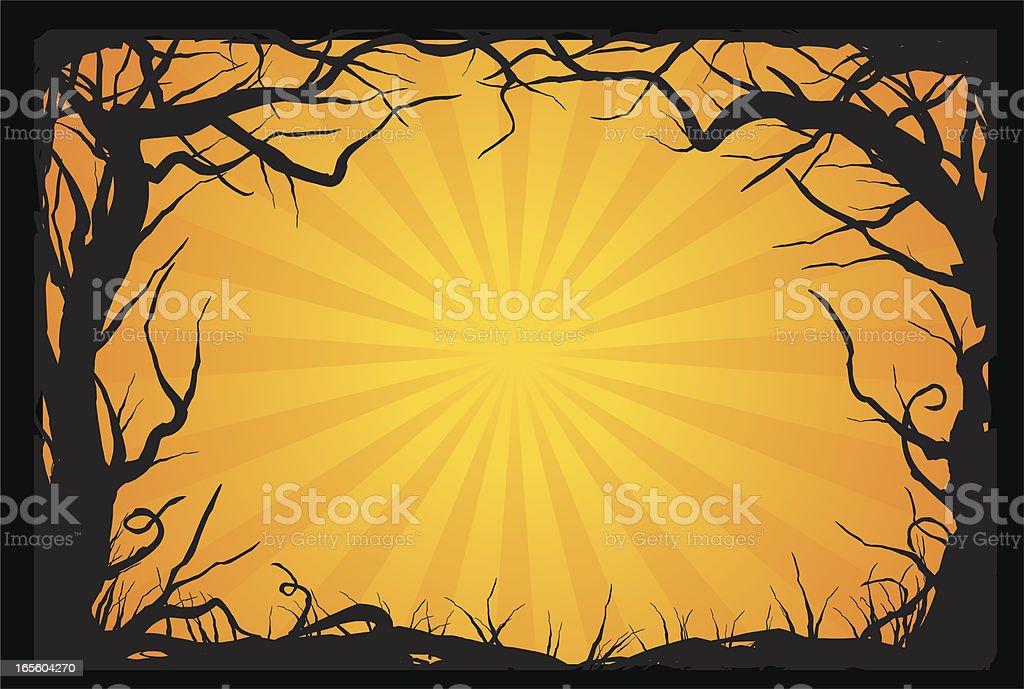 creepy woods royalty-free stock vector art