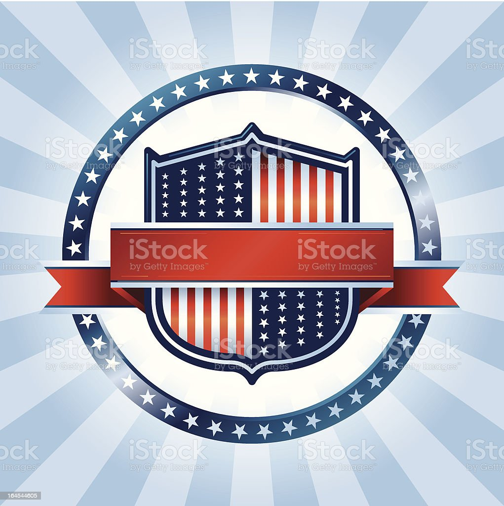 US Crest royalty-free stock vector art