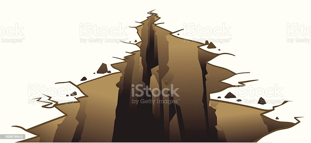 Crevice on earth's surface vector art illustration