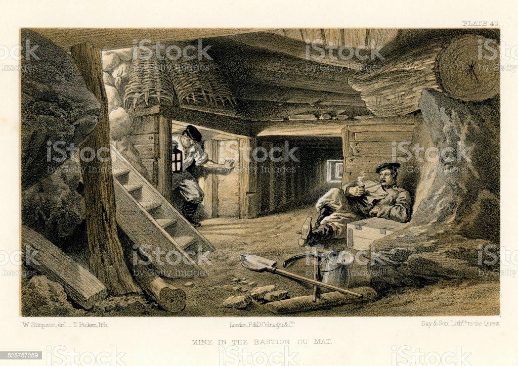 クリミア戦争鉱山のバッション Du マット - イラスト素材...