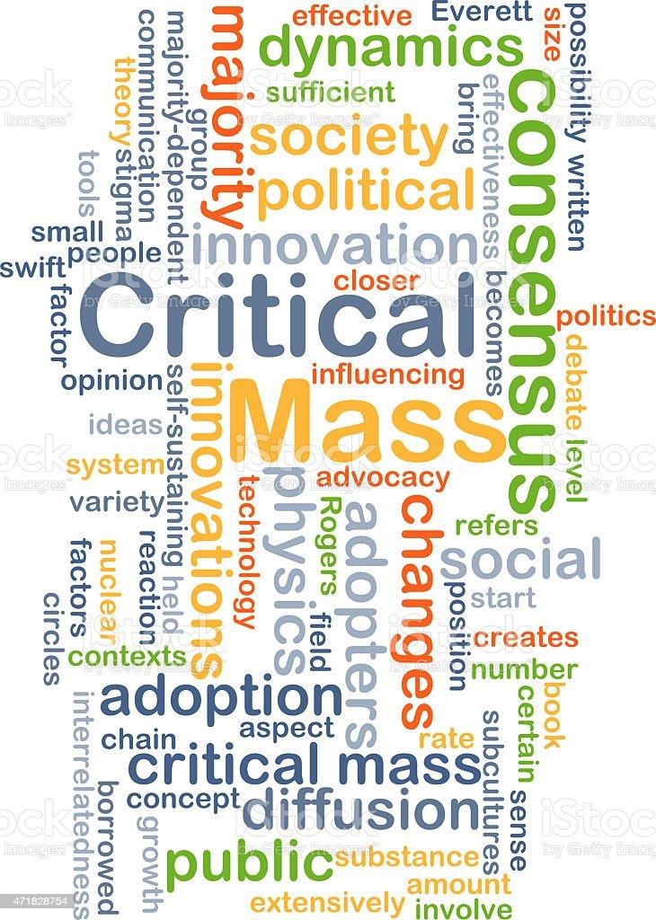 Critical mass background concept vector art illustration