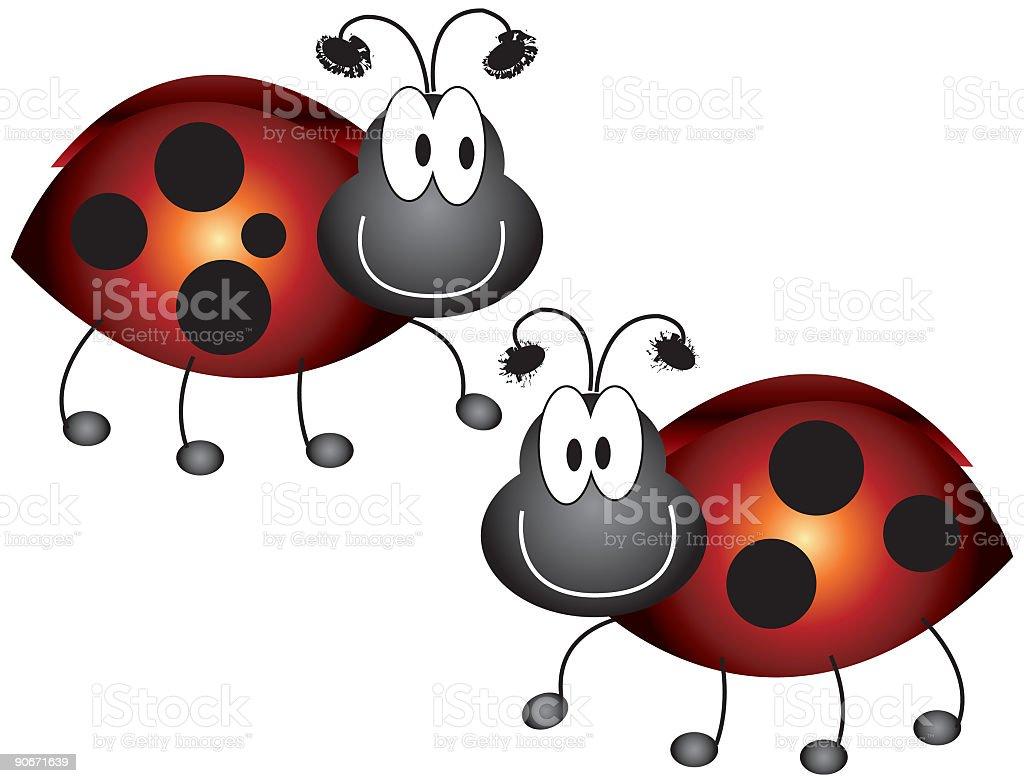 Critter Series: Ladybugs (vector) royalty-free stock vector art