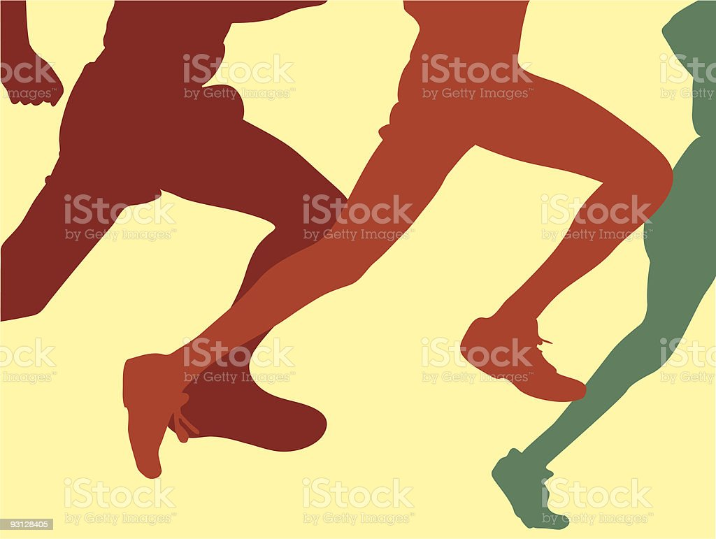 Cross country Runners royalty-free stock vector art