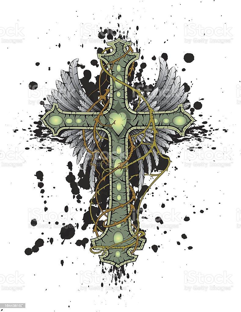 Cross vector art illustration