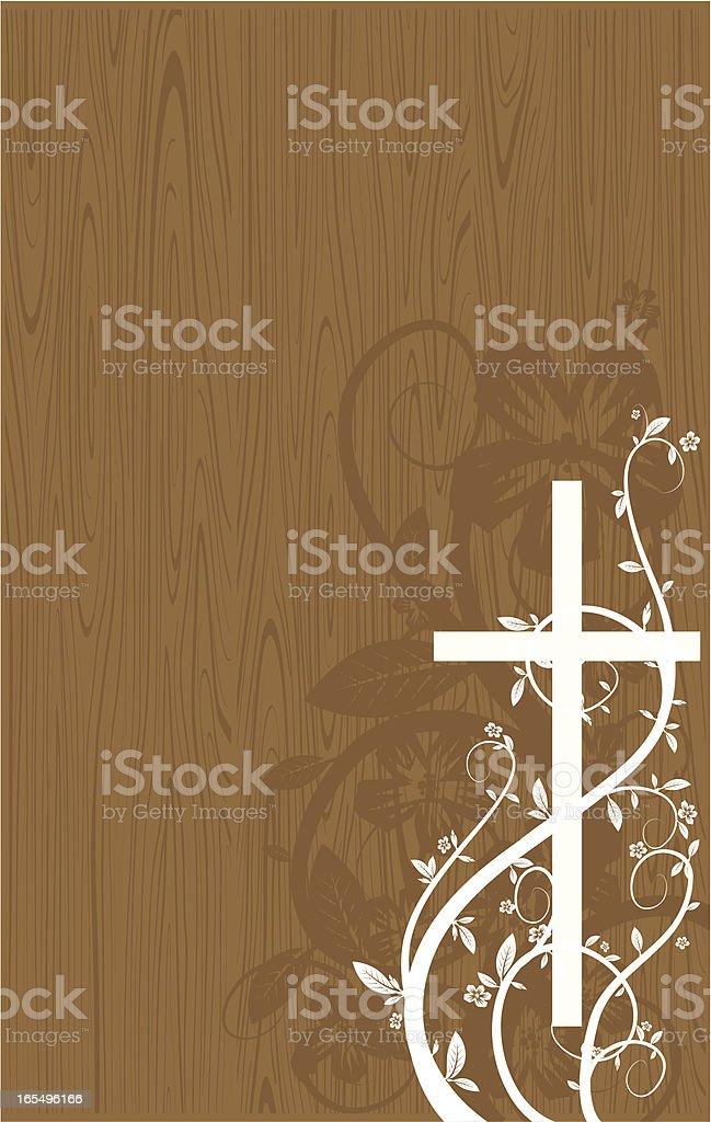 cross wood vector art illustration