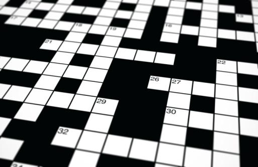Crossword Background Vector Art Illustration
