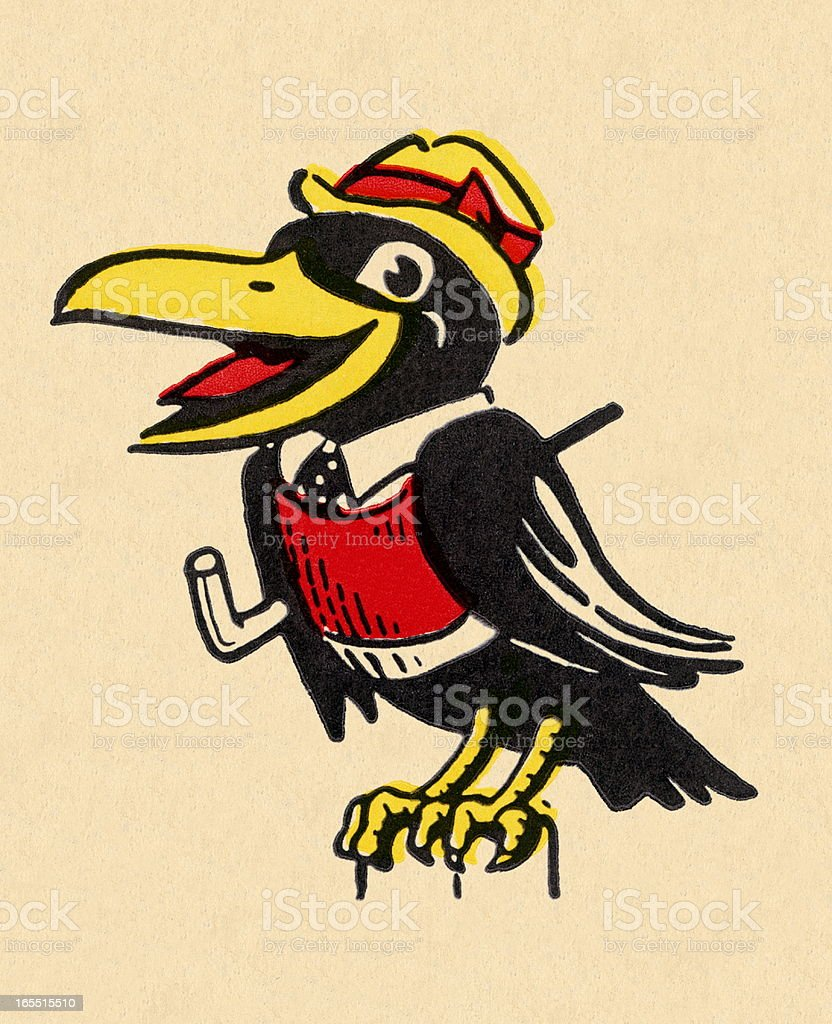 Crow Character royalty-free stock vector art