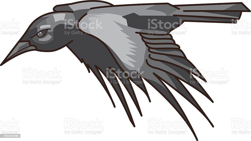 Crow vector art illustration