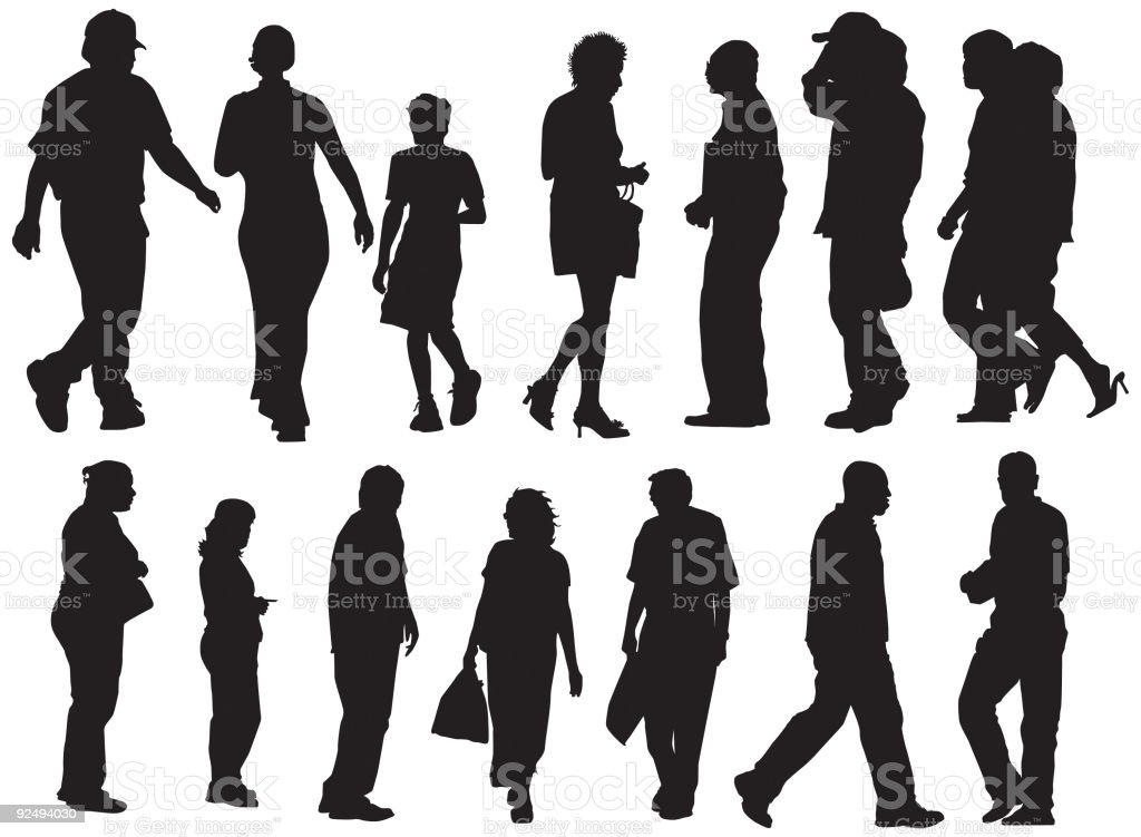 Crowd Of People (Vector) royalty-free stock vector art